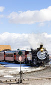 Cumbres and Toltec Narrow Gauge Railroad, Antonito, Colorado, US — Stock Photo