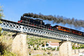 Steam train in Douro Valley, Portugal — Stock Photo