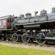 Steam locomotive in Railroad Museum, Gorham, New Hampshire, USA — Foto Stock