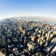 View of Manhattan from The Empire State Building, New York City, - Stock Photo