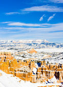 Bryce Canyon National Park in winter, Utah, USA — Stock Photo