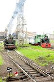 Steam locomotives, Kolubara, Serbia — Stock Photo