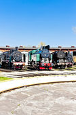 Steam locomotives in railway museum, Jaworzyna Slaska, Silesia, — Stock Photo