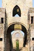 杰德堡修道院、 苏格兰边界、 苏格兰的废墟 — 图库照片