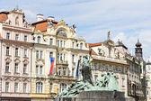Jan Hus Monument at Old Town Square, Prague, Czech Republic — Stock Photo