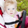 Portrait of toddler sitting in a pram — Stock Photo #18897337