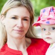 Portrait of mother with little daughter — Stock Photo #18897365