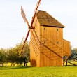 Wooden windmill, Stary Poddvorov, Czech Republic - Stockfoto