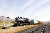 Steam train in Railroad Museum, Gorham, New Hampshire, USA — Stock Photo
