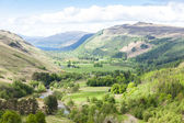 View of valley with Loch Broom at background, Highlands, Scotlan — Stock Photo