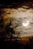 Solar eclipse, January 4th 2011 — Stock Photo