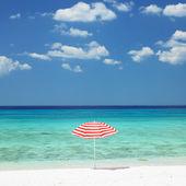 Sunshade, Maria la Gorda Beach, Pinar del Rio Province, Cuba — Stock Photo