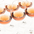 Wine glasses with rose wine — Stock Photo