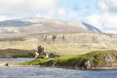 Ruins of Ardvreck Castle at Loch Assynt, Highlands, Scotland — Stock Photo