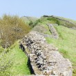 Hadrian's wall, Northumberland, England - Stock Photo