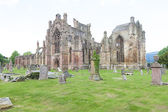 Ruins of Melrose Abbey, Scottish Borders, Scotland — Stock Photo