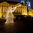 Old Town Square at Christmas time, Prague, Czech Republic - Foto Stock