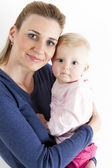 Portrait of mother with her baby girl — Stock Photo