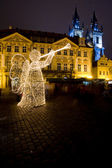 Old Town Square at Christmas time, Prague, Czech Republic — Stock Photo