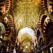 Interior of Mosque-Cathedral, Cordoba, Andalusia, Spain — Stock Photo #21563671