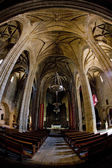 Interior of Cathedral of Santa Maria, Caceres, Extremadura, Spai — Stock Photo