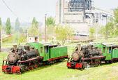 Steam locomotives, Kostolac, Serbia — Stock Photo