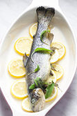 Trout baked on lemon — Stock Photo