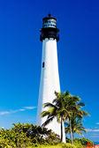 Cape Florida Lighthouse, Key Biscayne, Miami, Florida, USA — Stock Photo