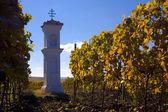 Village chapel with wineyard near Perna, Czech Republic — Stock Photo