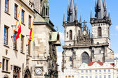 Tynsky church at Old Town Square, Prague, Czech Republic — Stock Photo