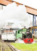 Steam freight train, Kolubara, Serbia — Stock Photo