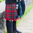 Stock Photo: Detail of mwearing kilt, Scotland