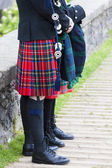 Detail of man wearing kilt, Scotland — Stock Photo