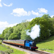 Steam train, Lakeside and Haverthwaite Railway, Cumbria, England - ストック写真