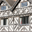 Half timbered house, Ludlow, Shropshire, England - Stock Photo