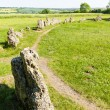 The King''s Men stone circle, Oxfordshire, England - Stock Photo