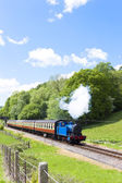 Steam train, Lakeside and Haverthwaite Railway, Cumbria, England — Stock Photo
