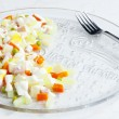 Traditional Czech Christmas potato salad — Stock Photo