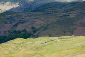 Hardknott Roman fort, Hardknott Pass, Cumbria, England — Stock Photo