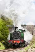 Parní lokomotiva, strathspey železnice, vysočina, skotsko — Stock fotografie