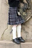 Detail of man wearing kilt, Scotland — Stock Photo