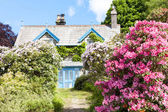 House with garden, Cumbria, England — Stock Photo