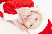 Portrait of little girl as Santa Claus — Stock Photo