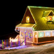 House in winter at Christmas time, Czech Republic — Stock Photo