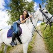 Stock Photo: Equestrion horseback