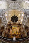 Interior of Mosque-Cathedral, Cordoba, Andalusia, Spain — Stock Photo