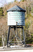 Tanque de água, mount washington cog railway, bretton woods, presunto de novo — Foto Stock