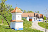 Wine cellars with God's torture, Kozojidky, Czech Republic — Stock Photo