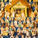 Gingebread crib at Saint Matthew, Prague, Czech Republic — Stock Photo #31766131