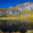 Landscape near Otta river, Norway — Foto Stock